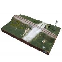 """Adt Costruzioni Diorama espositivo """"Croce Sant'Andrea"""" 51x30x8cm scala H0"""