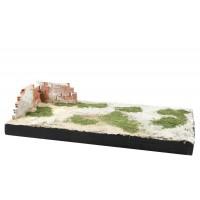 """Adt Costruzioni Diorama espositivo """"Rudere"""" 26,5x13,5x5,5cm scala 1:48"""