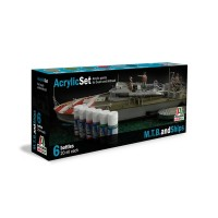 Italeri 434AP Acrylic Set for M.T.B and Ships (6x20ml each)