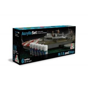 Italeri 434AP Acrylic Set for M.T.B and Ships (6x20ml each)