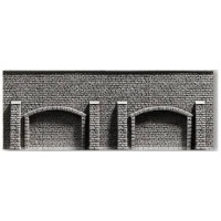Noch 58058 Muro con arcate serie Profi H0 33,5x12,5cm