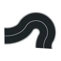 Noch 60701 Strade adesiva in curva largh. 80mm (2pz)