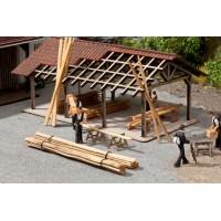 Noch 14216 Listelli di legno da cantiere (50pz)
