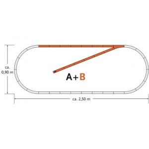 Roco 61101 Espansione B binari Geo Line