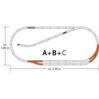 Roco 61102 Espansione Set C binari Geo Line