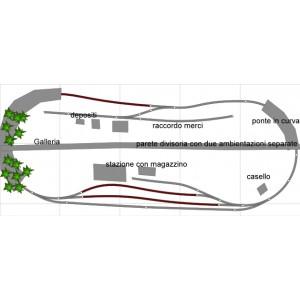 Adt Costruzione Plastico 250x110 cm H0 Sistema Roco GeoLine