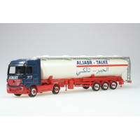 "Herpa Camion Mercedes con cisterna ""Aljabr-Talke"" H0-1:87"