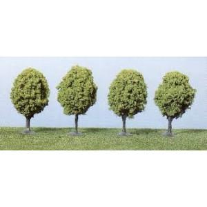 Heki 1031 Alberi verde chiaro da viale alt. 6-7cm (H0-TT-N)