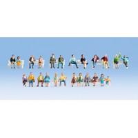 Noch 16130 Set persone sedute (24 pezzi H0) XL Set