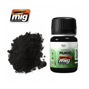 Ammo Mig 3001 Pigmento colore nero black