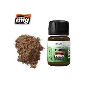 Ammo Mig 3007 Pigmento colore terra scura