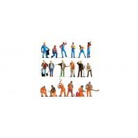 Noch 75135-2 Gente che lavora (18 pezzi H0)
