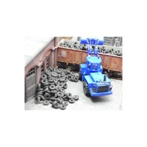 Juweela 28173 Vecchi pneumatici auto 40gr 1:87