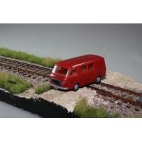 Brekina Fiat 238 Van con finestrini rosso