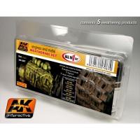 AK087 Set 5 colori per invecchiamento motori e metallo