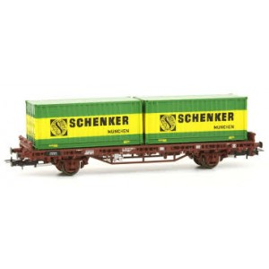 "Rivarossi HR6414 Carro pianale a due assi DB ""Schenker"""