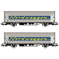 "Rivarossi HR6423 Set 2 carri telonati ""Nordwaggon"""