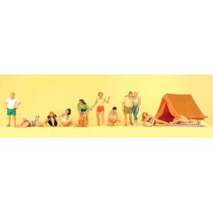 Preiser 10538 Persone al campeggio 1:87