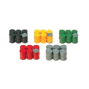 Preiser 17101 Fusti di metallo colorati 30 pezzi 1:87