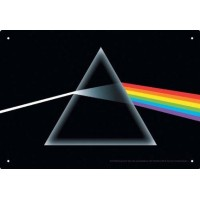 "Targhetta di metallo Pink Floyd ""Dark Side"" 28x20 cm"