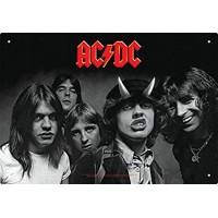 "Targhetta di metallo ""AC/DC"" 28x20 cm"