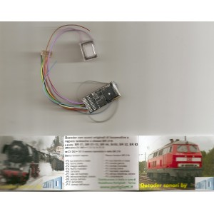 Zimo MX654R Zimo decoder sound con altoparlante vapore/diesel DB