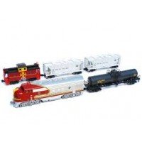 Kato 106-6271 Start set F7 Freight Train set AT&SF