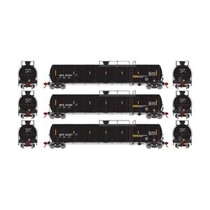 Athearn ATH15004 Set tre carri cisterna GATC23K (scala N)