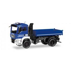Herpa 310307 Camion MAN TGS N ribalta a tre vie con gru (1:87)