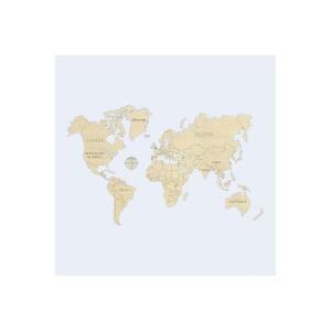 Amati WM501 Mappa del Mondo in legno naturale