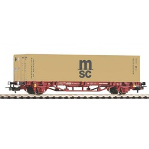 Piko 58773 Carro pianale a due assi con container MSC