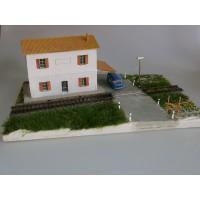 """Adt Costruzioni 014 Diorama """"Casello con strada"""" 1:87"""