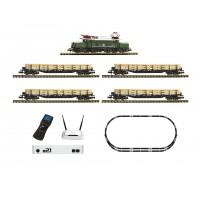 Fleischmann 931886 z21 Starter set digitale: locomotiva elettrica Gruppo 194 con treno merci, DB