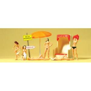 Preiser 10107 Bagnanti nudisti