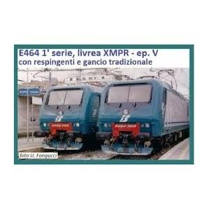 Vitrains 2238 Trenitalia E 464.009 respingenti tradizionali