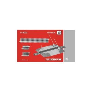 Fleischmann 919002 Set passaggio a livello con binari dritti
