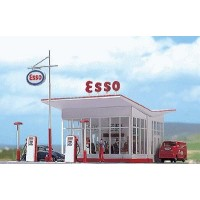 "Busch 1005 Pompa di benzina ""Esso"" Vintage 1:87"
