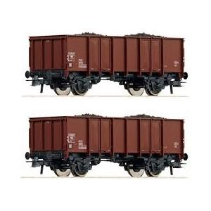 Roco 76136 Set carri aperti a due assi con carico