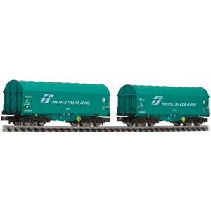Fleischmann 837928 Set due carri telonati Shimmns Mercitalia Rail Fs