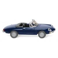 Wiking 020603 Alfa Romeo Spider blu scuro, capote aperta