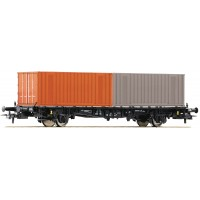 Roco 76787 Carro pianale con due containers