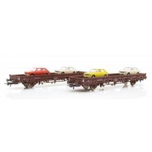 Roco 67086 Set carri pianali con carico di 127