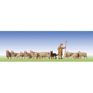 Faller 154001 Pastore con cane e gregge 1:87