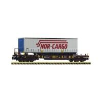 """Fleischmann 825052 Carro a tasca """"Nor-Cargo"""" (scala N-1:160)"""