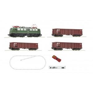 Roco 51330 Set partenza digitale z21 start: Locomotiva gruppo 140 con un treno merci, DB