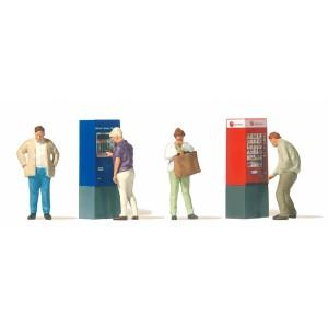 Preiser 10751 Persone al distributore automatico 1:87