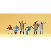 Preiser 10037 Addetti ai lavori con casco protettivo