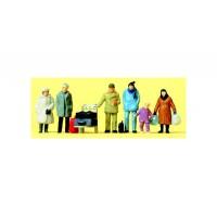 Preiser 14038 Viaggiatori con abiti invernali