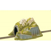 Noch 02221 Galleria binario unico con montagna decorata